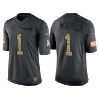 Nike Indianapolis Colts #1 Pat McAfee Anthracite Stitched Anthracite NFL Salute to Service Limited Jerseys