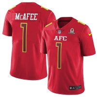 Nike Indianapolis Colts #1 Pat McAfee Red Men's Stitched NFL Limited AFC 2017 Pro Bowl Jersey