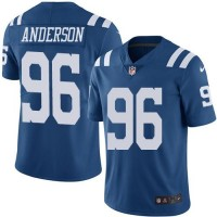 Nike Indianapolis Colts #96 Henry Anderson Royal Blue Men's Stitched NFL Limited Rush Jersey