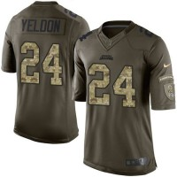 Nike Jaguars #24 T.J. Yeldon Green Men's Stitched NFL Limited Salute to Service Jersey
