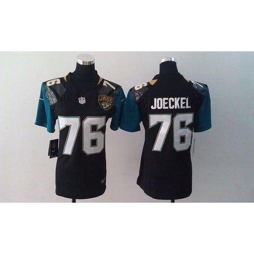 Nike Jaguars  76 Luke Joeckel Black Alternate Women s Stitched NFL Elite  Jersey b5a601f3f