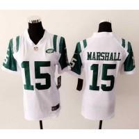 Nike Jets #15 Brandon Marshall White Women's Stitched NFL Elite Jersey
