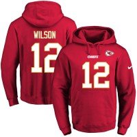 Nike Kansas City Chiefs #12 Albert Wilson Red Name & Number Pullover NFL Hoodie