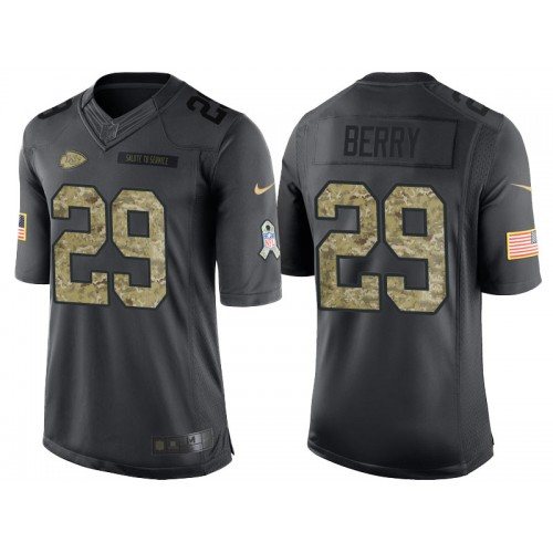 Nike Kansas City Chiefs  29 Eric Berry Men s Stitched Anthracite NFL Salute  to Service Limited Jerseys c1ec84d10