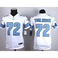 Nike Lions #72 Laken Tomlinson White Youth Stitched NFL Elite Jersey