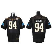 Nike Lions #94 Ziggy Ansah Black 2016 Pro Bowl Men's Stitched NFL Elite Jersey