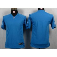Nike Lions Blank Light Blue Team Color Youth NFL Game Jersey