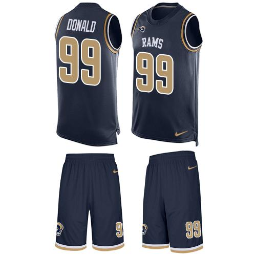 Cheap Nike Los Angeles Rams #99 Aaron Donald Navy Blue Team Color Men's  hot sale