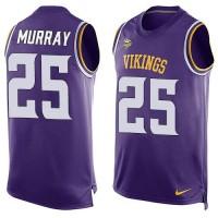 Nike Minnesota Vikings #25 Latavius Murray Purple Team Color Men's Stitched NFL Limited Tank Top Jersey