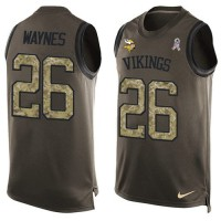 Nike Minnesota Vikings #26 Trae Waynes Green Men's Stitched NFL Limited Salute To Service Tank Top Jersey