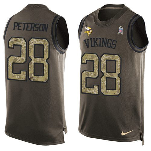 New Nike Minnesota Vikings #28 Adrian Peterson Green Men's Stitched NFL  for sale