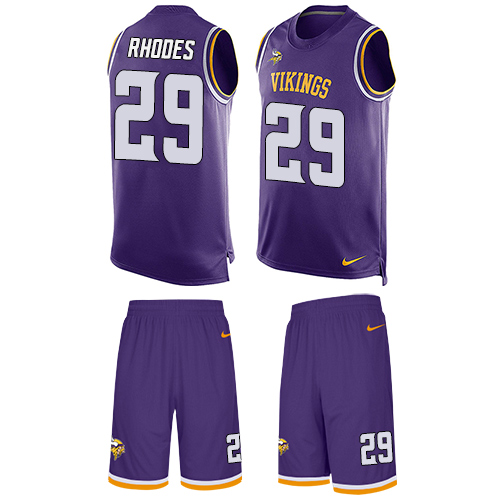 Nike Minnesota Vikings  29 Xavier Rhodes Purple Team Color Men s Stitched  NFL Limited Tank Top Suit Jersey 021a53bff