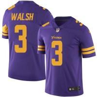 Nike Minnesota Vikings #3 Blair Walsh Purple Men's Stitched NFL Limited Rush Jersey