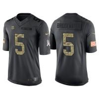 Nike Minnesota Vikings #5 Teddy Bridgewater Men's Stitched Anthracite NFL Salute to Service Limited Jerseys