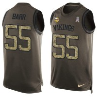 Nike Minnesota Vikings #55 Anthony Barr Green Men's Stitched NFL Limited Salute To Service Tank Top Jersey