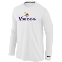 Nike Minnesota Vikings Authentic Logo Long Sleeve T-Shirt White