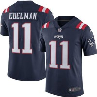 Nike New England Patriots #11 Julian Edelman Navy Blue Men's Stitched NFL Limited Rush Jersey