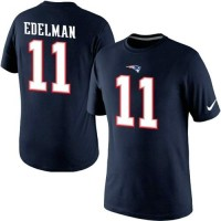 Nike New England Patriots #11 Julian Edelman Pride Name & Number NFL T-Shirt Navy Blue
