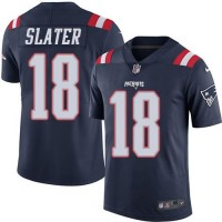 Nike New England Patriots #18 Matt Slater Navy Blue Men's Stitched NFL Limited Rush Jersey