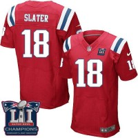 Nike New England Patriots #18 Matt Slater Red Alternate Super Bowl LI Champions Men's Stitched NFL Elite Jersey