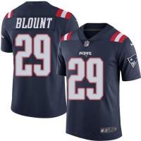 Nike New England Patriots #29 LeGarrette Blount Navy Blue Men's Stitched NFL Limited Rush Jersey