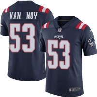 Nike New England Patriots #53 Kyle Van Noy Navy Blue Men's Stitched NFL Limited Rush Jersey
