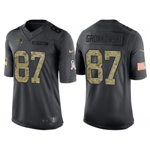 brand new 952b3 0818f Nike New England Patriots #87 Rob Gronkowski Men's Stitched ...