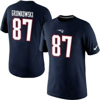 Nike New England Patriots #87 Rob Gronkowski Pride Name & Number NFL T-Shirt Navy Blue