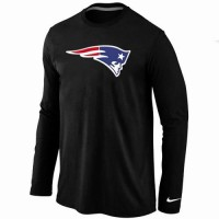 Nike New England Patriots Logo Long Sleeve T-Shirt Black