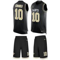 Nike New Orleans Saints #10 Brandin Cooks Black Team Color Men's Stitched NFL Limited Tank Top Suit Jersey