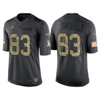 Nike New Orleans Saints #83 Willie Snead Men's Stitched Anthracite NFL Salute to Service Limited Jerseys