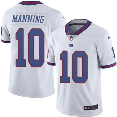 Men's Nike New York Giants #10 Eli Manning White Color Rush Limited Jerseys