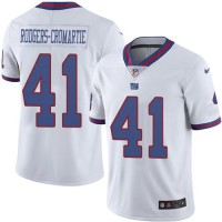 Nike New York Giants #41 Dominique Rodgers-Cromartie White Men's Stitched NFL Limited Rush Jersey