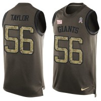 Nike New York Giants #56 Lawrence Taylor Green Men's Stitched NFL Limited Salute To Service Tank Top Jersey