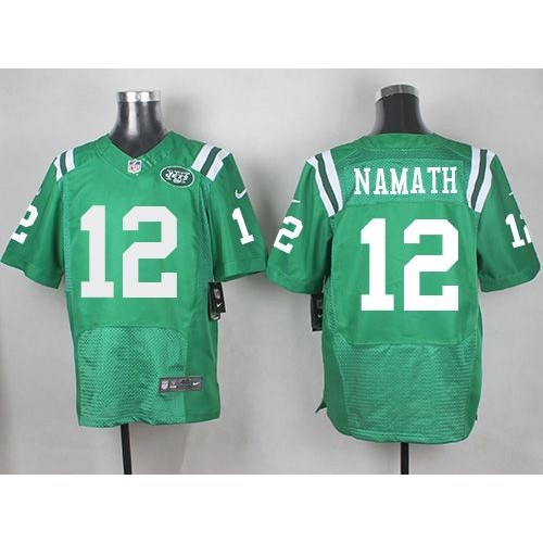 Nike New York Jets #12 Joe Namath Green Men's Stitched NFL Limited  hot sale
