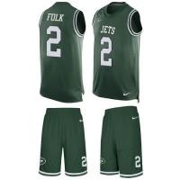 Nike New York Jets #2 Nick Folk Green Team Color Men's Stitched NFL Limited Tank Top Suit Jersey