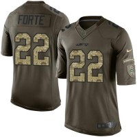 Nike New York Jets #22 Matt Forte Green Men's Stitched NFL Limited Salute to Service Jersey