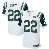 Nike New York Jets #22 Matt Forte White Men's Stitched NFL Elite Jersey