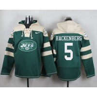 Nike New York Jets #5 Christian Hackenberg Green Player Pullover NFL Hoodie