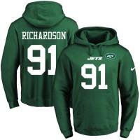 Nike New York Jets #91 Sheldon Richardson Green Name & Number Pullover NFL Hoodie