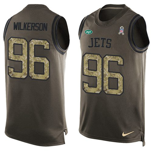 Nike New York Jets  96 Muhammad Wilkerson Green Men s Stitched NFL Limited  Salute To Service Tank ... bd3aae17f