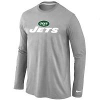 Nike New York Jets Authentic Logo Long Sleeve T-Shirt Grey