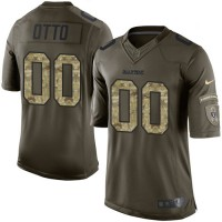 Nike Oakland Raiders #00 Jim Otto Green Men's Stitched NFL Limited Salute to Service Jersey