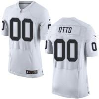 Nike Oakland Raiders #00 Jim Otto White Men's Stitched NFL New Elite Jersey