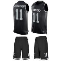 Nike Oakland Raiders #11 Sebastian Janikowski Black Team Color Men's Stitched NFL Limited Tank Top Suit Jersey