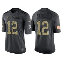 Nike Oakland Raiders #12 Ken Stabler Men's Stitched Anthracite NFL Salute to Service Limited Jerseys