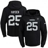 Nike Oakland Raiders #25 D.J. Hayden Black Name & Number Pullover NFL Hoodie