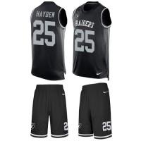 Nike Oakland Raiders #25 D.J. Hayden Black Team Color Men's Stitched NFL Limited Tank Top Suit Jersey