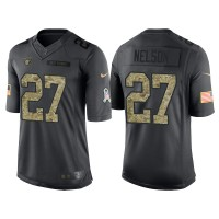 Nike Oakland Raiders #27 Reggie Nelson Men's Stitched Anthracite NFL Salute to Service Limited Jerseys