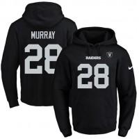 Nike Oakland Raiders #28 Latavius Murray Black Name & Number Pullover NFL Hoodie
